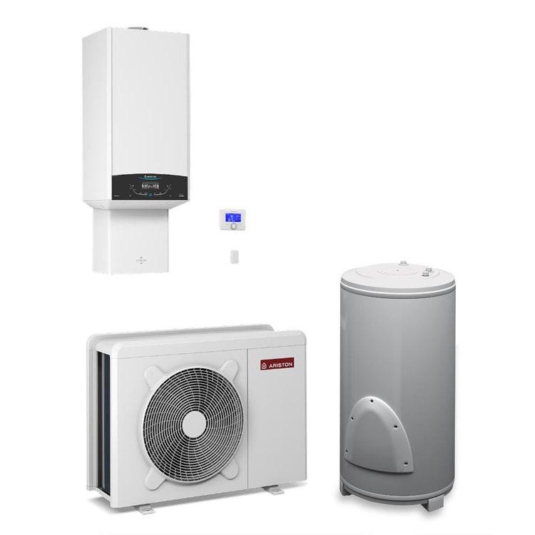 Ariston GENUS ONE HYBRID FLEX NET 24/7 Sistema ibrido compatto composto da pompa di calore integrata con caldaia a condensazione, per riscaldamento, raffrescamento e produzione di ACS con bollitore 180 litri 3301789