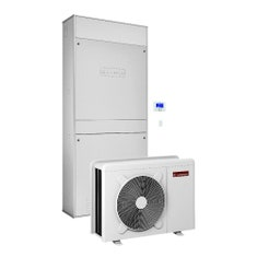 Immagine di Ariston GENUS ONE HYBRID FLEX IN NET 25/5 Sistema ibrido a incasso composto da pompa di calore integrata con caldaia a condensazione, per riscaldamento, raffrescamento e produzione di ACS con bollitore 150 litri 3301477