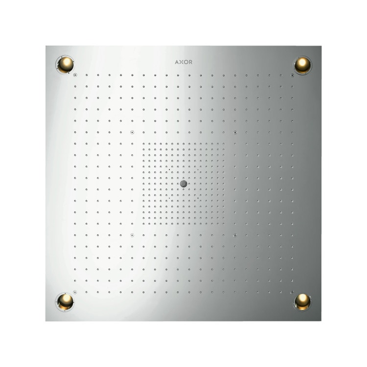 Axor SHOWERSOLUTIONS ShowerHeaven 970/970, 3 jet, con illuminazione, finitura acciaio optic 10623800