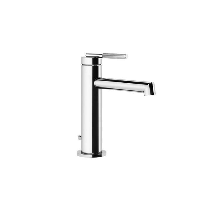Gessi INGRANAGGIO miscelatore lavabo H.18 cm, con scarico e flessibili di collegamento, finitura cromo 63501#031