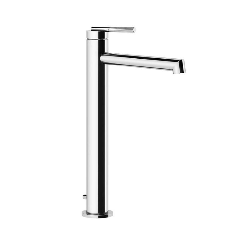 Gessi INGRANAGGIO miscelatore lavabo H.33 cm, con bocca corta, con scarico e flessibili di collegamento, finitura cromo 63505#031