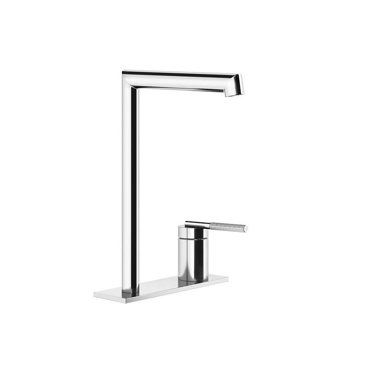 Gessi INGRANAGGIO miscelatore lavabo H.25 cm, con scarico e flessibili di collegamento, finitura cromo 63516#031