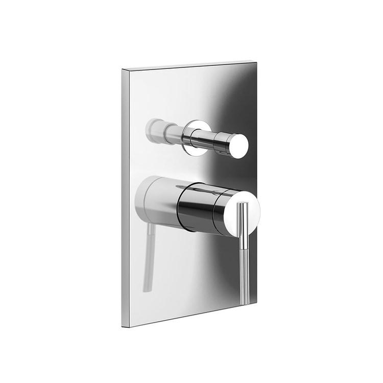 Gessi INGRANAGGIO miscelatore a parete, 2 vie, con deviatore automatico bagno/doccia, finitura cromo 63577#031