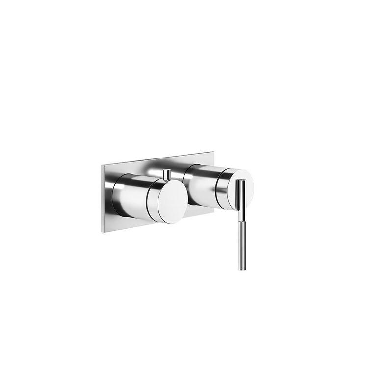 Gessi INGRANAGGIO miscelatore a parete, 2 vie, con deviatore automatico bagno/doccia, finitura cromo 63579#031