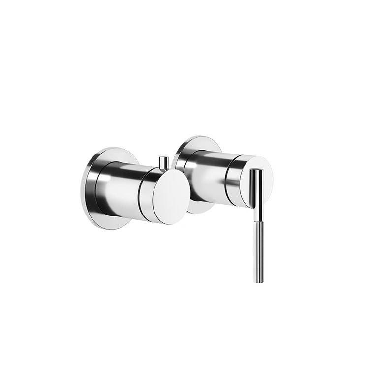 Gessi INGRANAGGIO miscelatore a parete, 2 vie, con deviatore automatico bagno/doccia, finitura cromo 63580#031