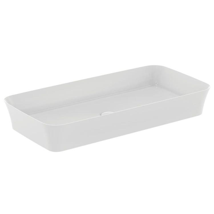 Immagine di Ideal Standard IPALYSS lavabo da appoggio 80 cm, senza troppopieno, colore bianco finitura opaco E1391V1