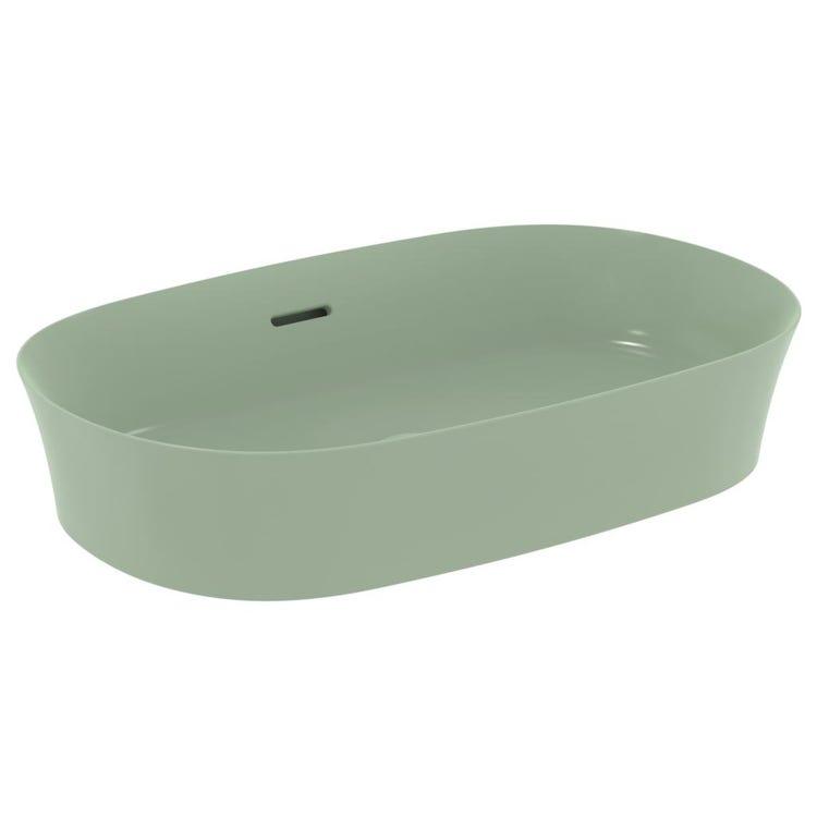 Ideal Standard IPALYSS lavabo da appoggio 60 cm, con troppopieno, colore salvia finitura opaco E1397X9