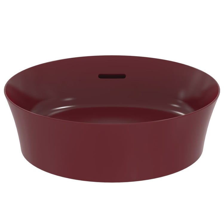 Ideal Standard IPALYSS lavabo da appoggio 40 cm, con troppopieno, colore melograno finitura opaco E1413V6