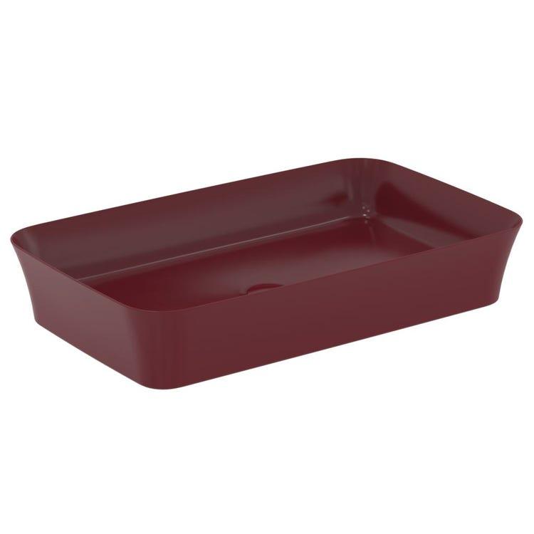 Ideal Standard IPALYSS lavabo da appoggio 65 cm, senza troppopieno, colore melograno finitura opaco E1886V6