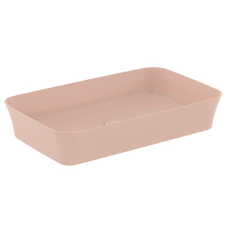 Ideal Standard IPALYSS lavabo da appoggio 65 cm, senza troppopieno, colore rosa pallido finitura opaco E1886V7