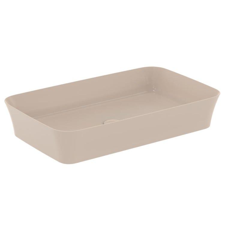 Ideal Standard IPALYSS lavabo da appoggio 65 cm, senza troppopieno, colore visone finitura opaco E1886V8