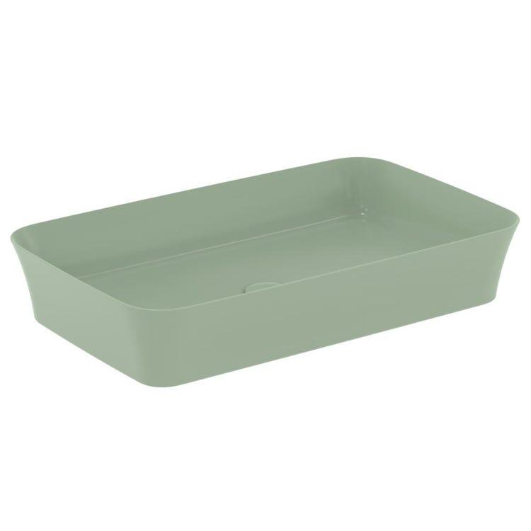 Ideal Standard IPALYSS lavabo da appoggio 65 cm, senza troppopieno, colore salvia finitura opaco E1886X9