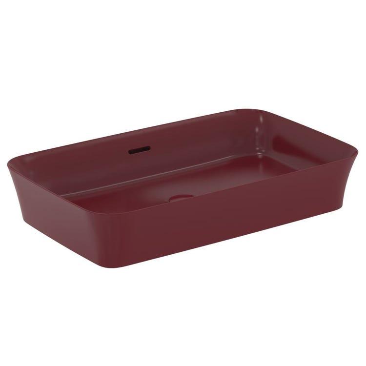 Ideal Standard IPALYSS lavabo da appoggio 65 cm, con troppopieno, colore melograno finitura opaco E1887V6