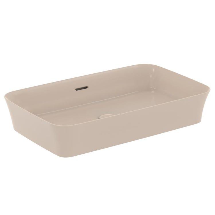 Ideal Standard IPALYSS lavabo da appoggio 65 cm, con troppopieno, colore visone finitura opaco E1887V8