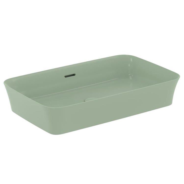 Ideal Standard IPALYSS lavabo da appoggio 65 cm, con troppopieno, colore salvia finitura opaco E1887X9