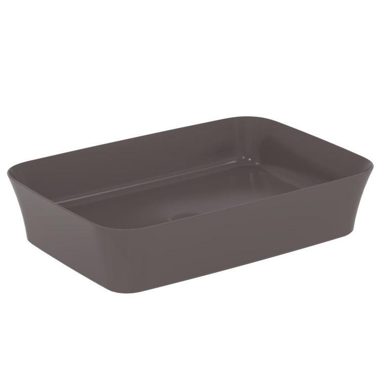 Ideal Standard IPALYSS lavabo da appoggio 55 cm, senza troppopieno, colore ardesia finitura opaco E2076V5