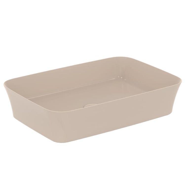 Ideal Standard IPALYSS lavabo da appoggio 55 cm, senza troppopieno, colore visone finitura opaco E2076V8