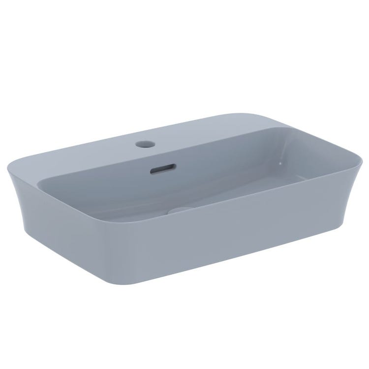Immagine di Ideal Standard IPALYSS lavabo da appoggio 55 cm monoforo, con troppopieno, colore polvere finitura opaco E2077X8