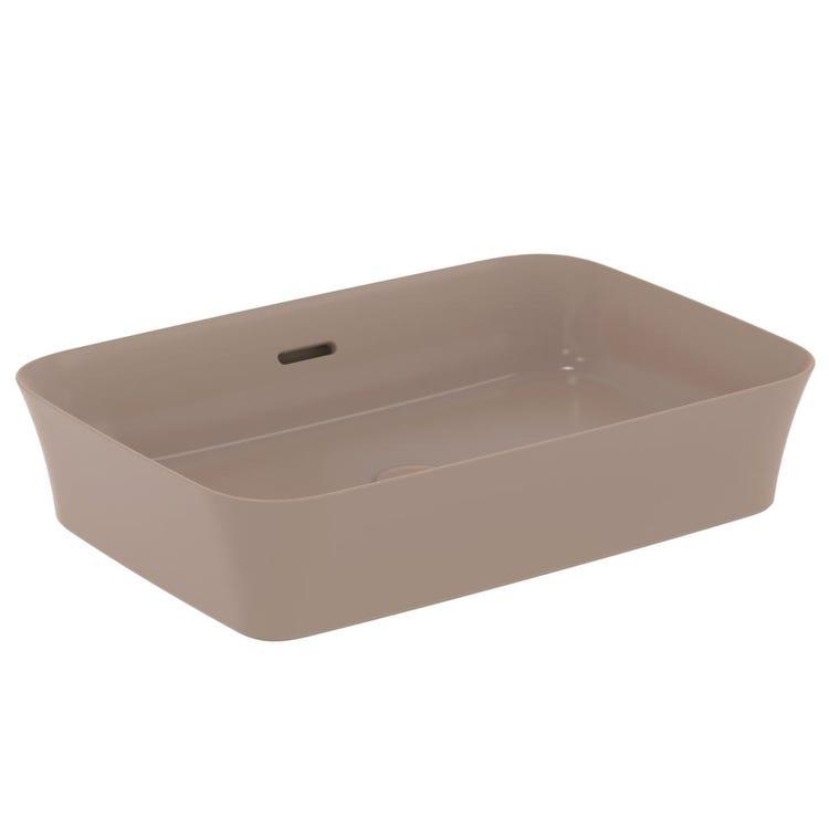 Immagine di Ideal Standard IPALYSS lavabo da appoggio 55 cm, con troppopieno, colore kashmir finitura opaco E2078V4