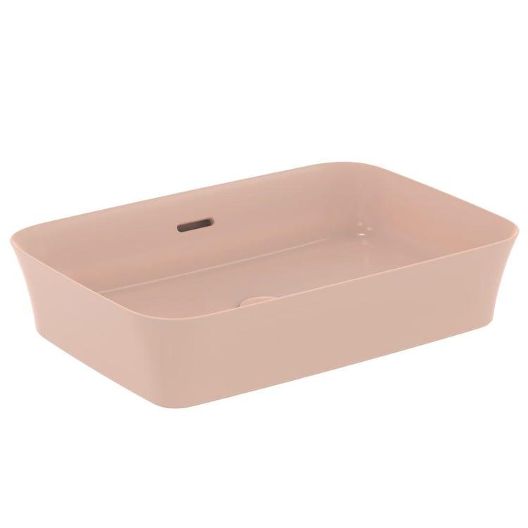 Immagine di Ideal Standard IPALYSS lavabo da appoggio 55 cm, con troppopieno, colore rosa pallido finitura opaco E2078V7