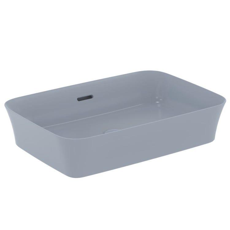 Immagine di Ideal Standard IPALYSS lavabo da appoggio 55 cm, con troppopieno, colore polvere finitura opaco E2078X8