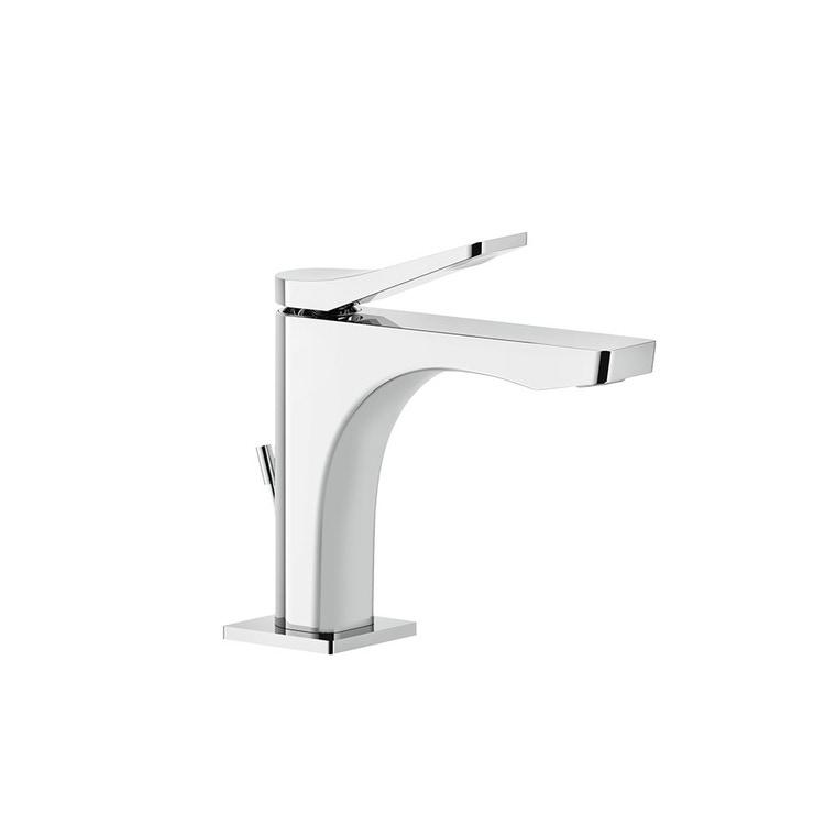 Immagine di Gessi RILIEVO miscelatore lavabo H.15 cm, con scarico e flessibili di collegamento, cartuccia 25 mm, finitura cromo 59001#031