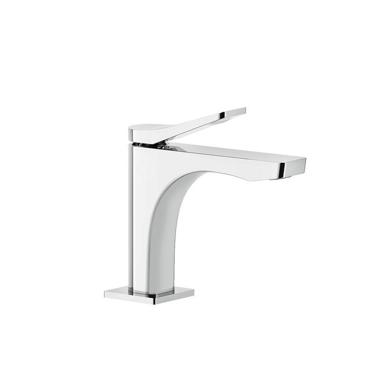 Immagine di Gessi RILIEVO miscelatore lavabo H.15 cm, senza scarico, con flessibili di collegamento, cartuccia 25 mm, finitura cromo 59002#031