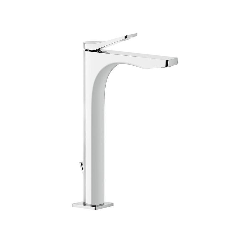 Immagine di Gessi RILIEVO miscelatore lavabo H.30 cm, con scarico e flessibili di collegamento, cartuccia 25 mm, finitura cromo 59003#031