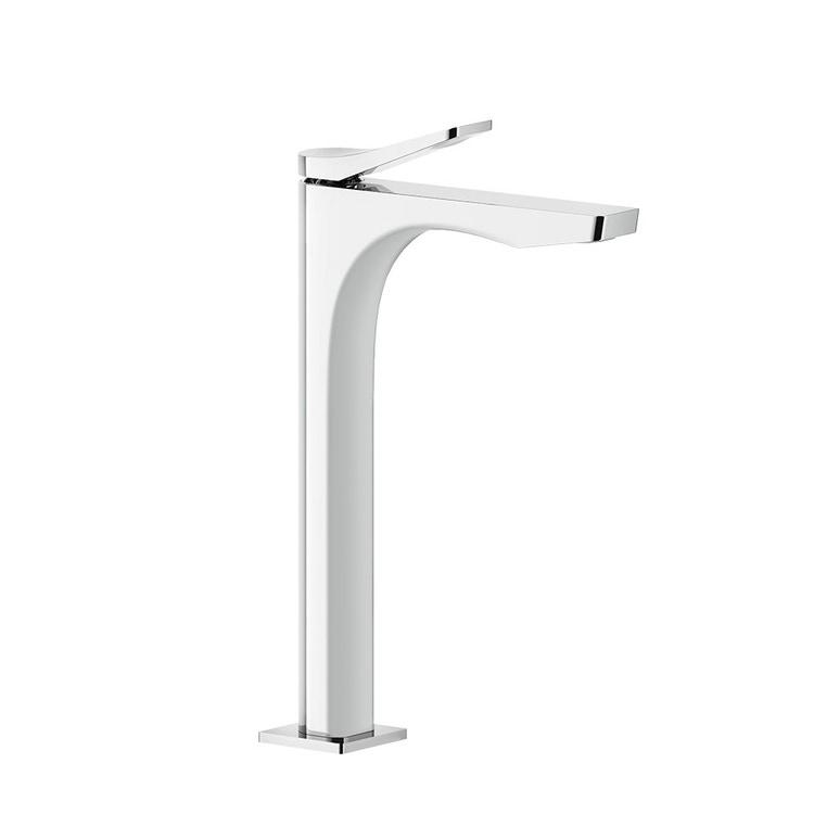 Immagine di Gessi RILIEVO miscelatore lavabo H.30 cm, senza scarico, flessibili di collegamento, cartuccia 25 mm, finitura cromo 59004#031