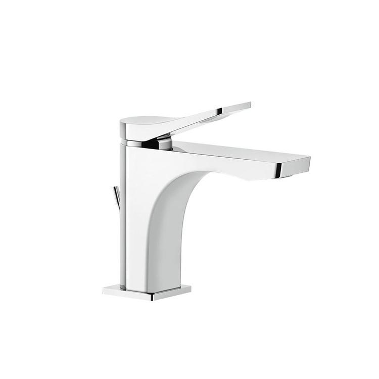 Immagine di Gessi RILIEVO miscelatore lavabo H.16 cm, con scarico e flessibili di collegamento, cartuccia 35 mm, finitura cromo 59005#031