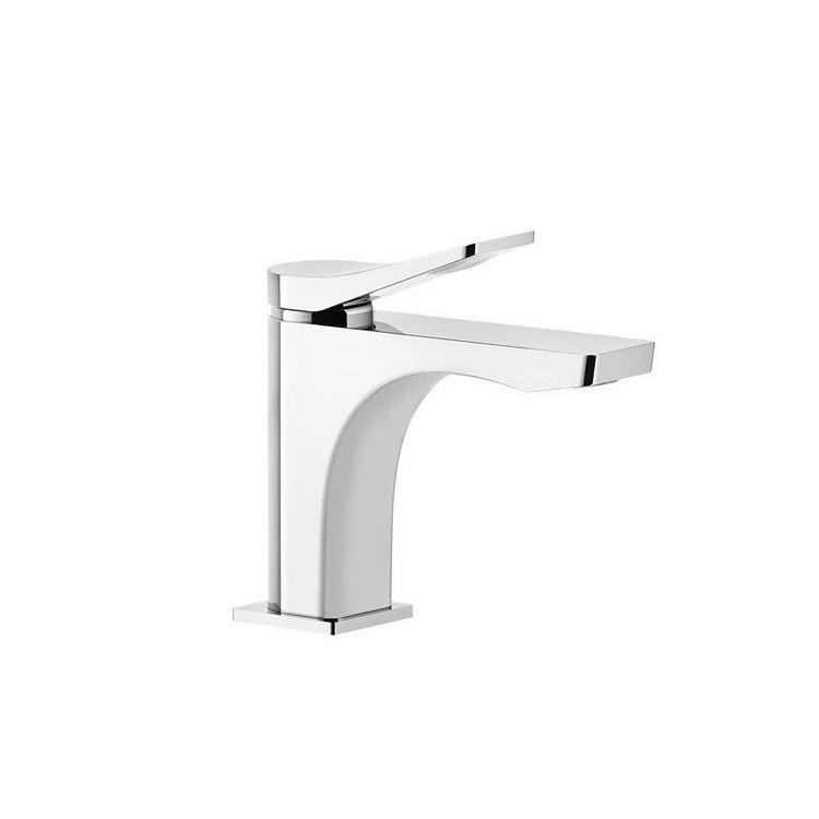 """Immagine di Gessi RILIEVO miscelatore monocomando lavabo, flessibili di collegamento con attacco da 3/8"""", senza scarico, finitura cromo 59006#031"""