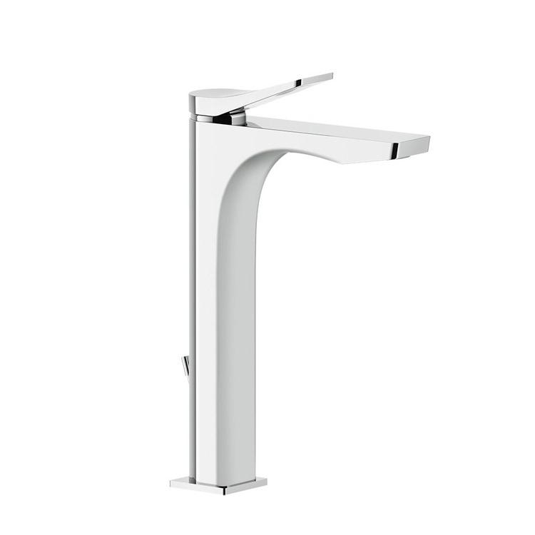 Immagine di Gessi RILIEVO miscelatore lavabo H.30 cm, con scarico e flessibili di collegamento, cartuccia 35 mm, finitura cromo 59009#031