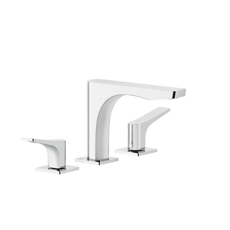 Immagine di Gessi RILIEVO gruppo lavabo 3 fori, senza scarico, con flessibili di collegamento, finitura cromo 59012#031