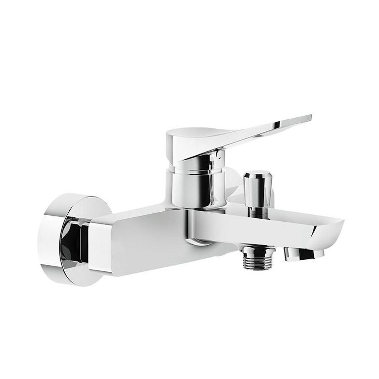 Immagine di Gessi RILIEVO miscelatore esterno vasca, con deviatore automatico bagno/doccia, finitura cromo 59013#031