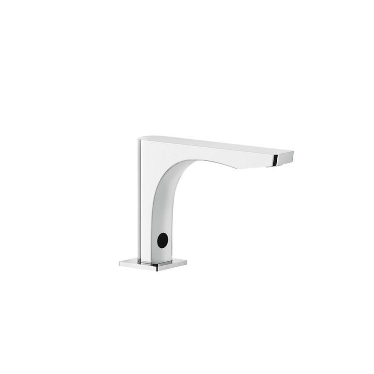 Immagine di Gessi RILIEVO rubinetto elettronico lavabo, con regolazione di temperatura e portata tramite rubinetto sottolavabo, finitura cromo 59023#031