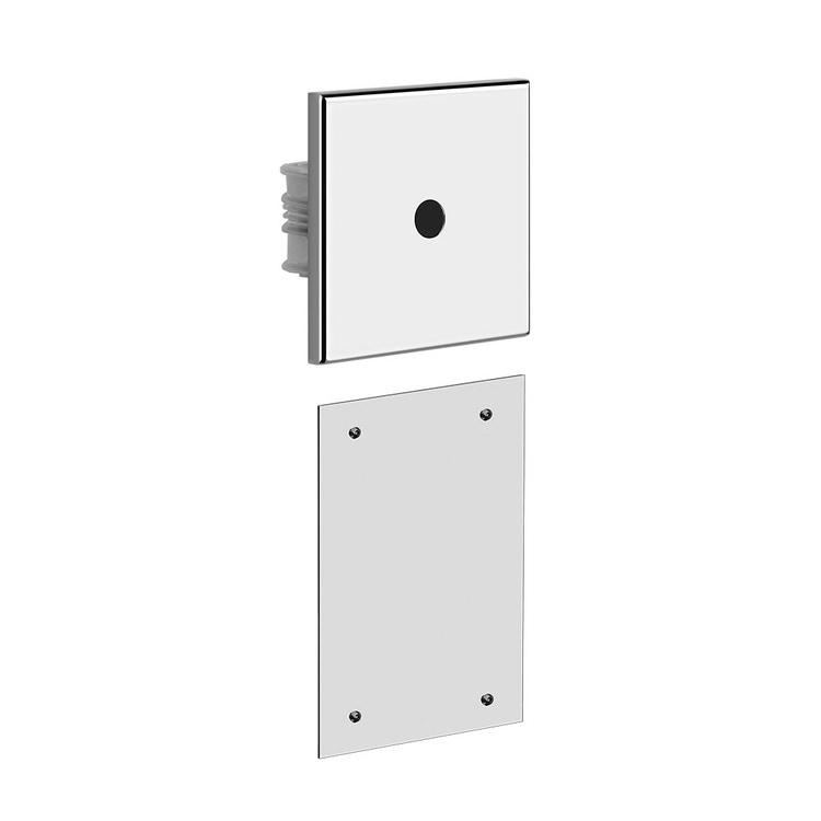 Immagine di Gessi RILIEVO comando remoto elettronico a parete, con box per la regolazione della temperatura e della portata, finitura cromo 59029#031