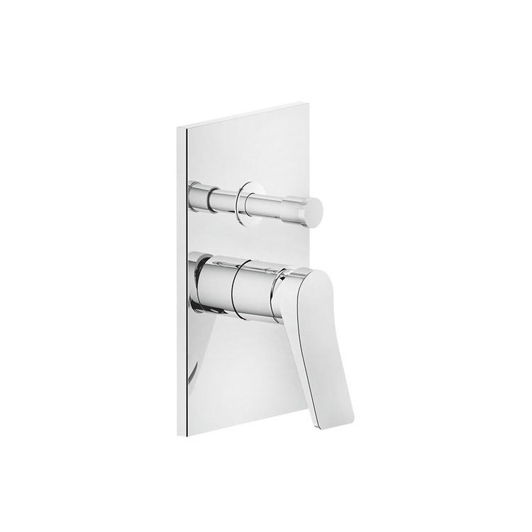 Immagine di Gessi RILIEVO miscelatore a parete, 2 vie, con deviatore automatico bagno/doccia, finitura cromo 59079#031