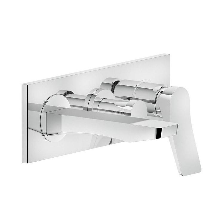 Immagine di Gessi RILIEVO miscelatore vasca a parete P.19 cm, 2 vie, con deviatore, finitura cromo 59139#031