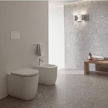 Ideal Standard BLEND CURVE set sanitari a pavimento, vaso AquaBlade® senza brida e senza sedile, bidet monoforo con troppopieno, colore bianco finitura opaco T3751V1-T3753V1-T3760V1
