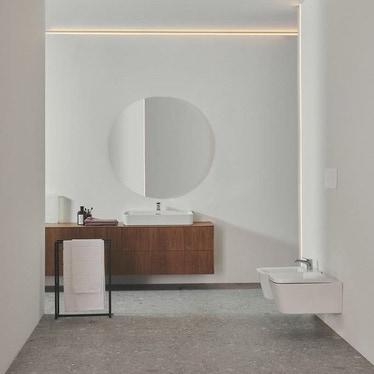 Ideal Standard BLEND CUBE set sanitari sospesi, vaso AquaBlade® senza brida e senza sedile, bidet monoforo con troppopieno, colore bianco finitura opaco T3686V1-T3687V1-T3927V1