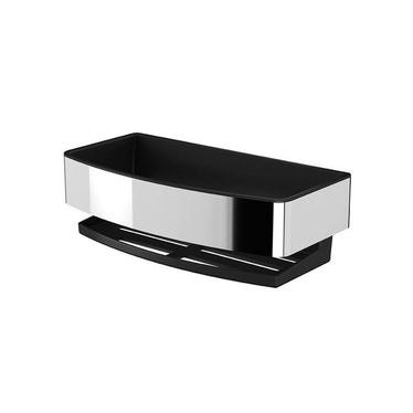Inda Cestino con bacinella antibatterica estraibile, bacinella antiscivolo e anti-UV, colore nero finitura opaco AV251AAL08