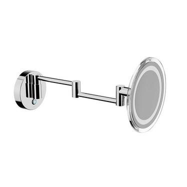 Inda MY MIRROR specchio ingranditore a parete, con doppio braccio snodato, finitura cromo AV258BCR