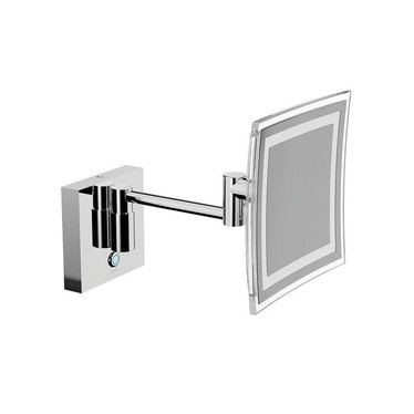 Inda MY MIRROR specchio ingranditore a parete, con braccio snodato, finitura cromo AV258CCR