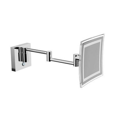 Inda MY MIRROR specchio ingranditore a parete, con doppio braccio snodato, finitura cromo AV258DCR