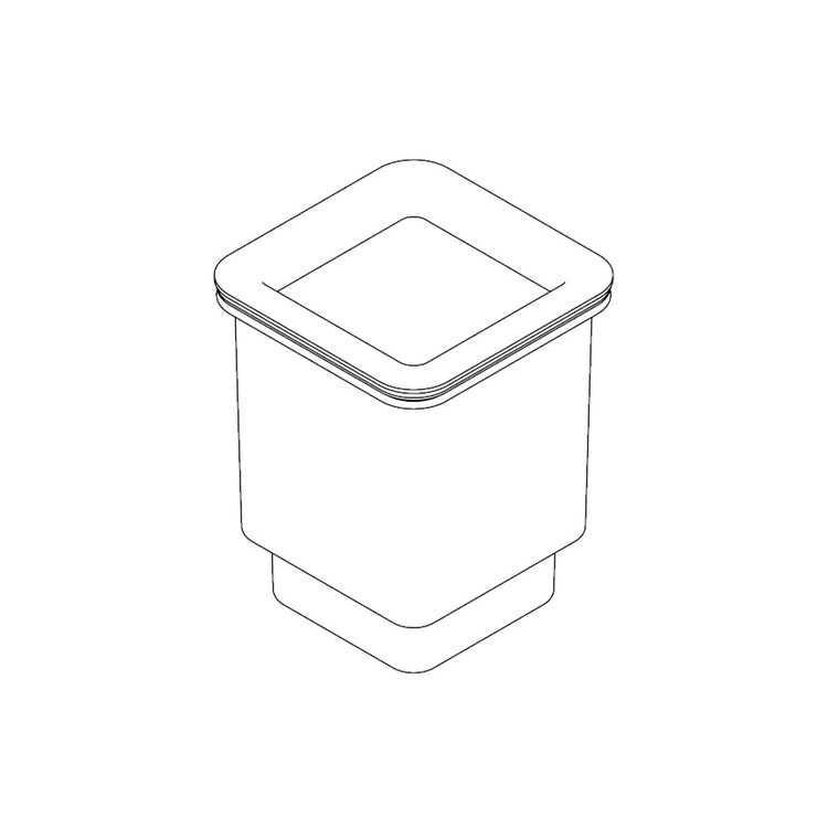 Inda Bicchiere per modulo portabicchiere per art. A8810MNS, finitura acciaio inox spazzolato R8810MNS
