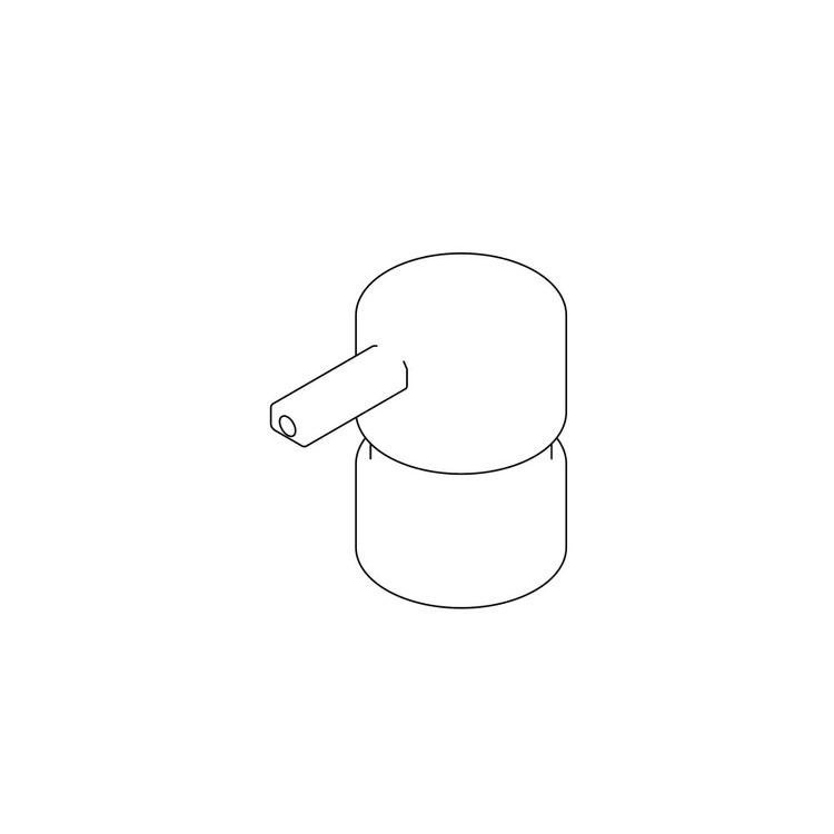 Inda Erogatore per art. A88120, finitura acciaio inox spazzolato R88120001