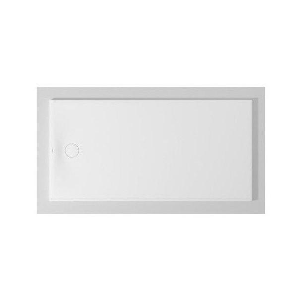 Immagine di Duravit TEMPANO piatto doccia filo pavimento rettangolare L.180 P.90 cm, con foglio impermeabile premontato e Antislip, colore bianco finitura lucido 720213000000001
