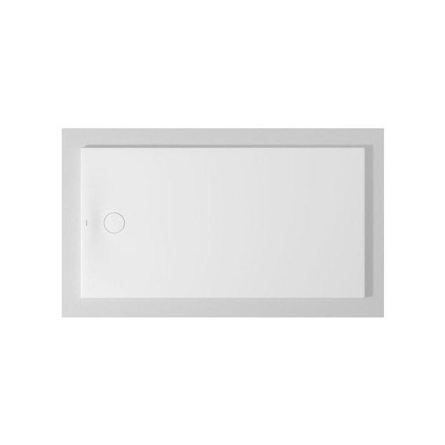 Immagine di Duravit TEMPANO piatto doccia filo pavimento rettangolare L.170 P.90 cm, con foglio impermeabile premontato e Antislip, colore bianco finitura lucido 720212000000001