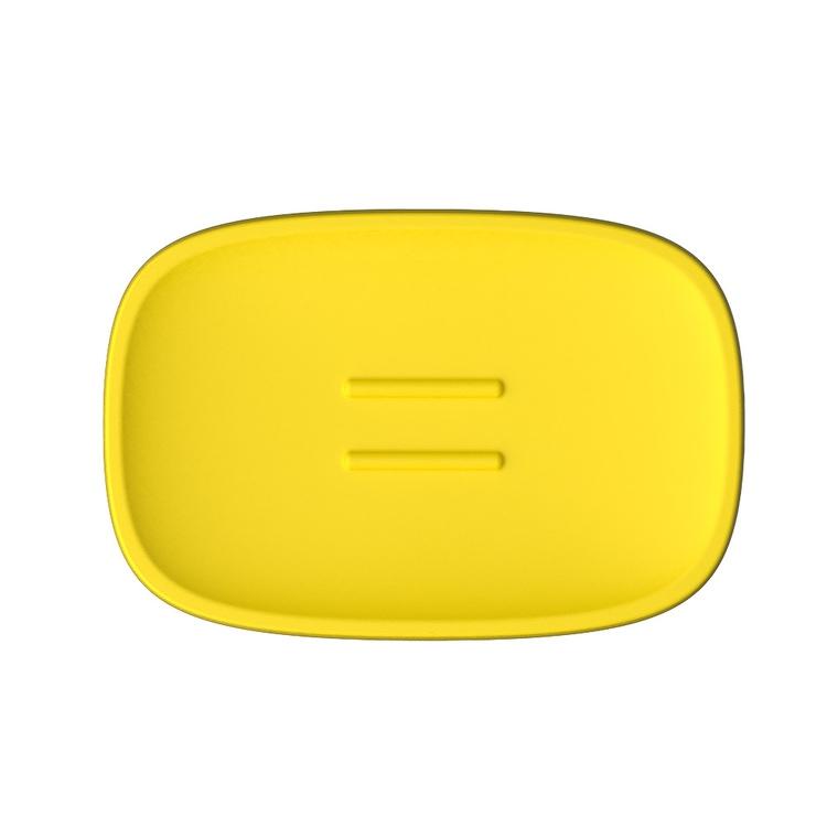 Immagine di Colombo Design TRENTA MOOD porta sapone d'appoggio, colore lemon yellow B3040RAL1018