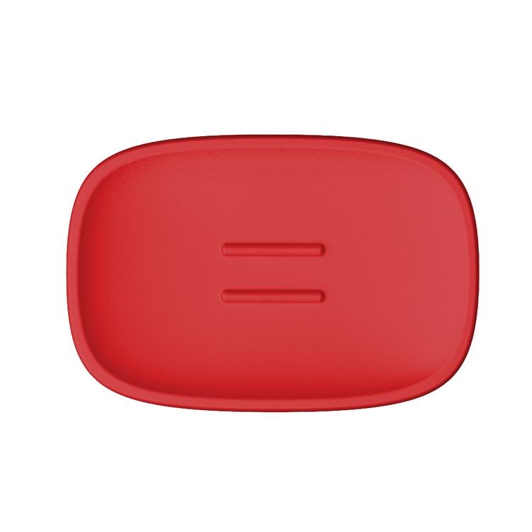 Immagine di Colombo Design TRENTA MOOD porta sapone d'appoggio, colore strawberry red B3040RAL3018